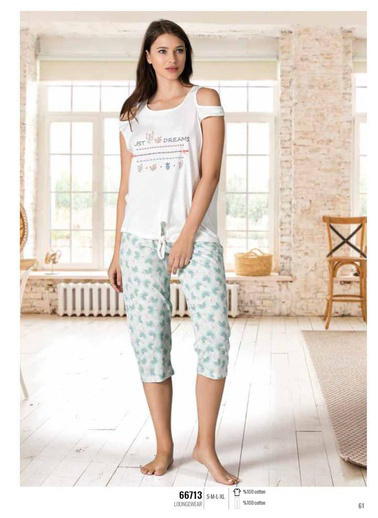 Nbb Pijama Takım Beyaz